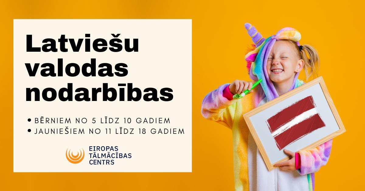 Attālinātas latviešu valodas nodarbības bērniem un jauniešiem!